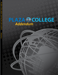 Course Catalog Addendum