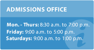 Admissions Office page